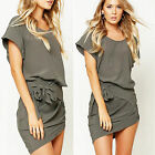 CHIC Sexy Womens Summer Casual Short Sleeve Evening Party Cocktail Short Dress