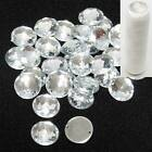 20mm Acrylic Button Round Crystal Clear w 2 Holes Sew On Faced Sharpe Tip+Thread