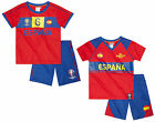 Boys Official UEFA EURO 2016 Espana SPAIN Top & Shorts Set 4 to 10 Years