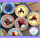 24 X SPIDERMAN 6TH BIRTHDAY EDIBLE CUPCAKE TOPPERS WAFER PAPER, ICING OR PRECUT