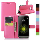 Magnetic PU Leather Flip Wallet Card Case Cover For LG G2 G3 MINI G4 Pro G5