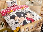 New 2016 Mickey Mouse Minnie Bedding Set 4pc Queen King Bed Cotton RARE