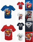 SPIDERMAN SUPERMAN BOYS GIRLS SUMMER HOLIDAY CASUAL T-SHIRT TOP  3 - 8 YEARS NEW