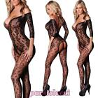 Bodystocking donna tutina overall catsuit pizzo lingerie intimo nuovo DL-1918