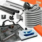 Electric Central Vacuum Kit Powerhead, 35' Electric Hose & Tools for Vacuflo Kit