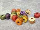 12mm 25/50/100/200pcs ASSORTED ANCIENT COLORS ACRYLIC RONDELLE BEAD FF5440