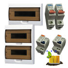 Surface Mounted 12/18/24 pole module switchboard Load Center Mains 63A+20A RCBOs