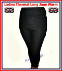 LADIES THERMAL UNDERWEAR LONG JANE / JOHNS BLACK WARM