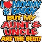 Love Mommy &Daddy But Aunt &Uncle Best Baby Blue Creeper Newborn To 24 Months