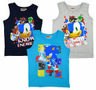 Boys Sonic the Hedgehog Jet Shadow Eggman Vest Top 3 to 8 Years NEW