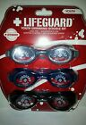Boys Girls Youth Lifeguard Brand 3 pack Swim Goggles Various Colors