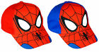 Boys Official Spiderman Web Face Spider Peak Baseball Cap Hat 3 to 12 Years