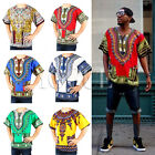 Mens Womens African Dashiki Shirts Dress Boho Hippie Kaftan Festive Clothing
