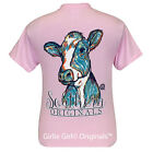 "Girlie Girl Originals ""Watercolor Cow"" Light Pink Short Sleeve Unisex Fit T-Shir"