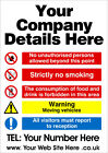 Health and Safety Notice for Garage Workshop Any Company - Personalised