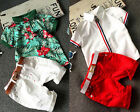 Toddler Kids Boy Clothes Flower Polo shirt T-shirt Tops+Shorts Outfits Set 1-6Y