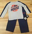 Boys Under Armour 2 Piece Long Sleeves with Pants This is my House Glacier Grey