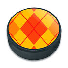 Ice Hockey Puck Pattern Prints A-K