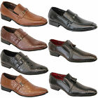 Mens Italian Shoes Formal Slip On Office Work Crocodile Style Gio Gino Wedding