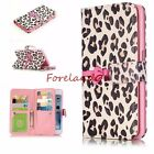Emboss Knot & Leopard Stripes Wallet Stand Card Slot Case for Samsung iPhone LG