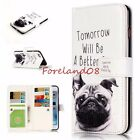 Emboss Cute Puppy DOG 9 Card Slots Wallet Stand Cover Case for iPhone Samsung LG