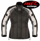Akito Tornado Ladies Textile Waterproof Motorbike Motorcycle Jacket Black Gun