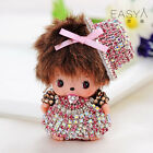 Knot Monchhichi hat girl key chains fashion doll Purse keyring pendant women bag
