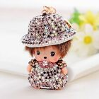 Punk Monchichi hat girl key chain fashion doll Purse keyring pendant women bag