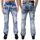 Mens Eto Regular Fit Jeans Designer Stylish Funky Distress Look Denim Pants New