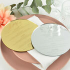 Personalised Favours Wedding Plate Menu Choice Cards - Gold, Silver, Black, More