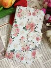 Rose Love Fresh Floral Flower Flip Pouch Case Cover for MOTOROLA HUAWEI SAMSUNG