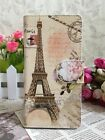 Rose Love Eiffel Tower Flip Pouch Case Cover for MOTOROLA HUAWEI SAMSUNG
