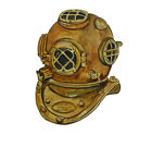 Vintage Ocean Navy Diver Helmet Decal Sticker -Car Truck RV Cup Boat Cell Tablet