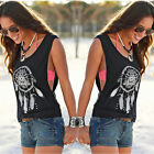 Women Summer Vest T-Shirt Sleeveless Shirt Blouse Casual Tank Tops