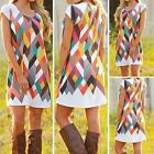 Casual Pencil Dresses full color Sleeveless printing Summer Sexy Slim