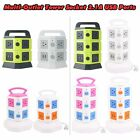 USB Smart Charger Surge Protector Multi-outlet Power Strip Vertical Tower Socket