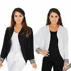 Womens Ladies Open Fit Vintage Cape Blazer Kimono Batwing Evening Shrug Jacket