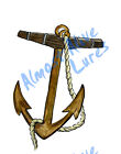 Realistic Art Rustic Anchor Nautical Vinyl Decal - Car Home Truck Cooler Boat RV
