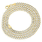 1/10th 10K Yellow Gold Diamond Cut Curb Cuban Chain Necklace 3.30mm 16- 26 Inch