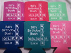 Birthday Koozies Design b10102014 lot of 25 to 100 Personalized