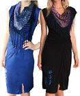DESIGUAL FLOR DRESS BLACK WITH SCARF NECK VERY DIFFERENT