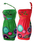 Desigual Strapless Junio Summer Dress RRP£54 Red / Green