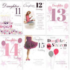 Daughter 11th 12th 13th 14th 15th or 16th Birthday Card - Good Quality ICG