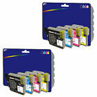 2 Sets of Compatible Printer Ink Cartridges for Brother LC980 / LC1100 Range