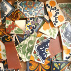 Pounds of Broken Talavera Mexican Ceramic Tile in Mixed Decorative Designs #003