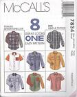 McCall's 7834 Misses' and Men's Shirt - Sewing Pattern