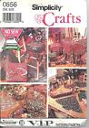 Simplicity 8160 No Sew Christmas Decorating Accessories  Awesome Craft Pattern
