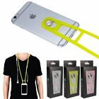 Stick-on Silicone lanyard Neck Sling Strap Wrist Band For All Phones Universal