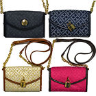 Tommy Hilfiger Purse Womens Crossbody Small Chain Handle Wallet Jacquard Xbody