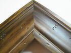 "2"" Wide Walnut Ponderosa Aged Pine Distresed Picture Frame-Custom Square Size"